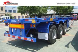 3axles 60ton Semi Trailer Type Container Trailer pictures & photos