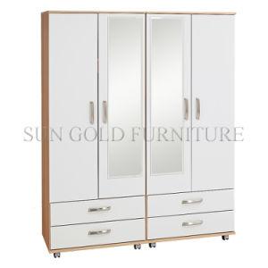Regal 4-Door 4-Drawer 2-Mirror Robe Wardrobe (SZ-WD090) pictures & photos