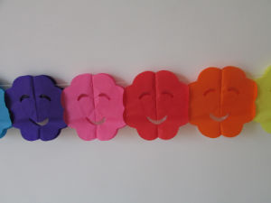 Colorful Smiling Face Paper Garlands