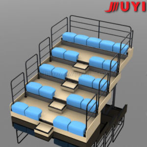 Juyi Factory Price Customize Electric Telescopic Wooden Bleacher Adjustable Gym Bench pictures & photos