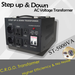 500va-10kVA Step up and Down Voltage Transformer with LED Warning Light pictures & photos