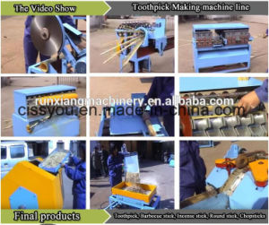 Wood Toothpick Chopsticks Bamboo Incense Making Production Line Machine pictures & photos