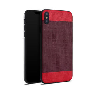Concise Meticulous Splice Veins Leather Case for iPhone X pictures & photos