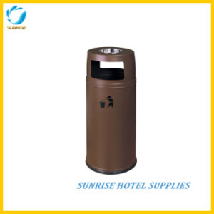 Hotel Stainless Steel Trash Bin with Ashtray pictures & photos