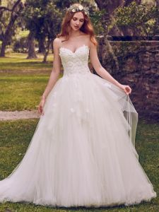 Lace Wedding Gowns Puffy Appliqued Wedding Dresses Strapless Vestido De Noiva W14905 pictures & photos