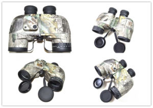 Military 10X50 Camo Binoculars Waterproof Telescope with Rangefinder Compass Reticle pictures & photos