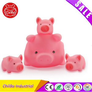 Soft Vinyl Mini Pink Pig Baby Bath Toy pictures & photos