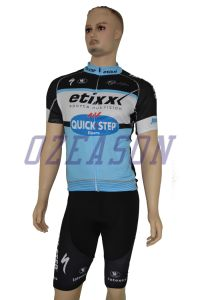 Fashion Men′s Short Sleeve Team Sky Sublimation Cycling Jersey Set pictures & photos