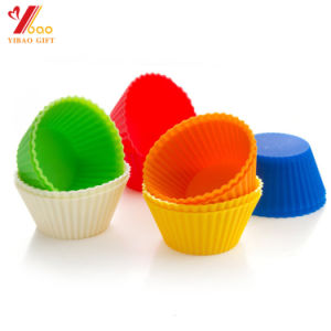 Factory Outlet Food Grade Pantry Elements Silicone Cupcake Liners / Baking Cups - 12 Vibrant Muffin Molds in Storage Jar pictures & photos