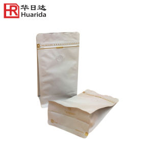Flat Bottom Side Gusset Zipper Kraft Paper Food Package Bag pictures & photos