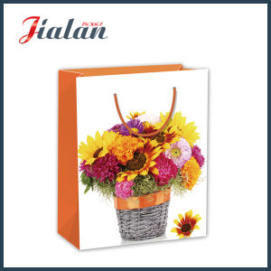 Custom Made Beautiful Flowers Packing Shopping Carrier Gift Paper Bag pictures & photos