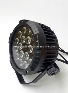 IP65 18*15W RGBWA+UV 6in1 LED Flat Slim PAR Light pictures & photos