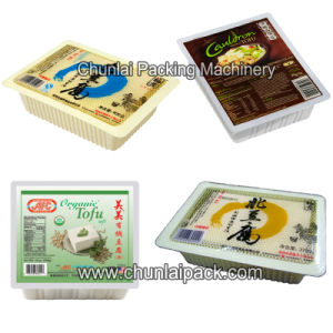 Tofu Box Beancurd Container Sealing Machine pictures & photos