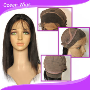 """100% Human Virgin 20"""" Straight Indian/ Brazilian Lace Front Wig pictures & photos"""