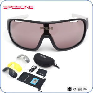 Wraparound-Style Wind Protection 2 Lens Sport Sunglasses pictures & photos