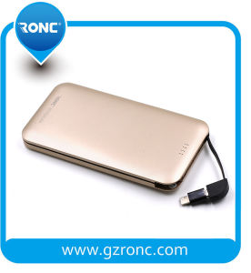 Built in Cable 8000mAh Power Bank for Samsung/iPhone pictures & photos