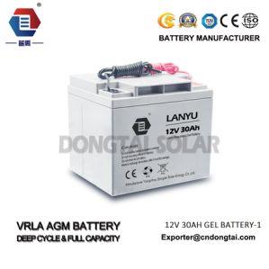 12V Maintenance Free Lead Acid 38ah Solar Battery pictures & photos