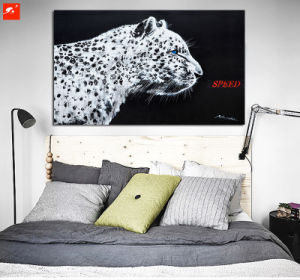 New Modern Cool Nordic Black and White Leopard Oil Painting pictures & photos