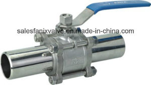 3PC Type Welded Ball Valve. 2 pictures & photos