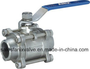3PC Type Welded Ball Valve. 1 pictures & photos