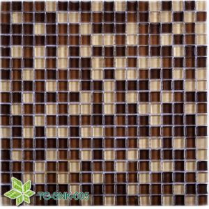 Indoor Bathroom Glass Mosaic Tile (TG-SNK-005) pictures & photos