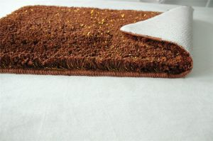 Gold Sparkle Fiber Polyester Microfiber Bathroom Washable Shaggy Shiny Rugs pictures & photos