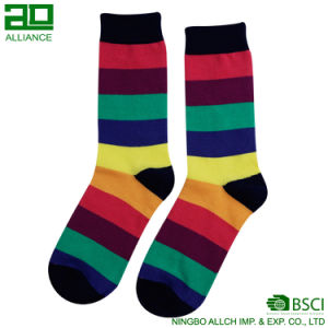 Funny Vivid Color Wholesale Custom Men Cotton Socks pictures & photos