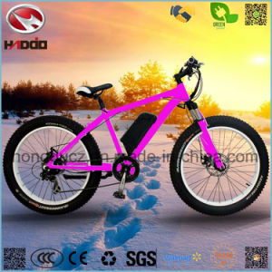 500W Electric Fat Tire Beach Bike Hydraulic Suspension pictures & photos