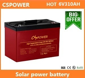 Cspower 6V310ah Solar Battery UPS Battery Gel Battery Lead Acid Battery pictures & photos