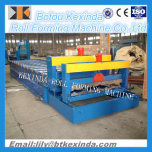 1100 Glazed Roof Tile Making Machine pictures & photos