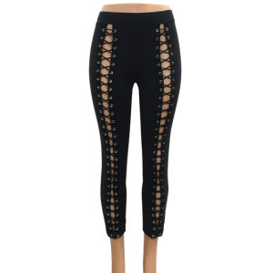 Ladies Fashion Bandage Jeggings Preppy Pants pictures & photos