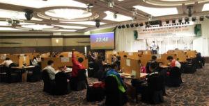Screen Table Set for Apbf Contract Bridge Tournament pictures & photos