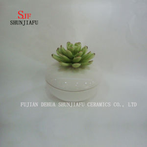 Green Flower Small Ceramic Ring Box Jewelry Rouge Box pictures & photos