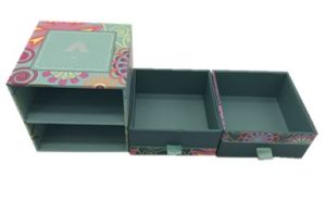 High Quality Handmade Paper Jewelry Box with Drawer pictures & photos