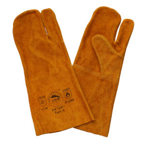 Safety Cowhide Leather Welders Gloves From Gaozhou, China pictures & photos