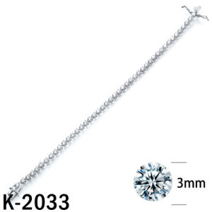 Silver Jewelry Tennis Bracelets Round CZ Bracelets pictures & photos