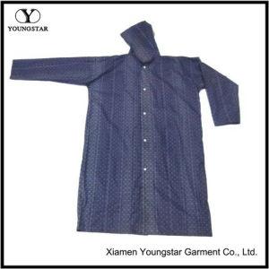 Cheap High Quality Dark Blue Color PVC Hooded Raincoat / Rainwear pictures & photos