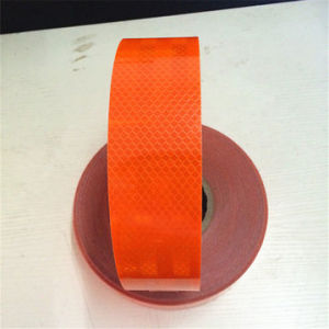 PVC+Pet Orange Reflective Tape for Road Safety pictures & photos