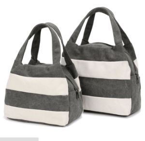 Promotion Women Canvas Color Mosaic Hand Shopping Carrier Bag pictures & photos