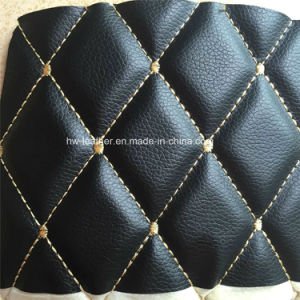 Fashion Stich Design Synthetic PU Leather for Car Seat Covers Hx-M1708 pictures & photos