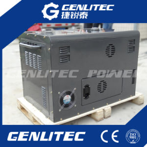 Air Cooled 2 Cylinder Diesel Engine 10kVA Silent Portable Diesel Generator pictures & photos