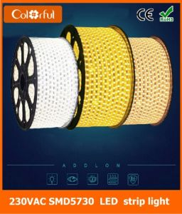 Long Life High Brightness AC230V SMD5730 Flexible LED Strip pictures & photos