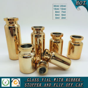 Clear Glass Injection Bottle with Aluminum-Plastic Cover pictures & photos