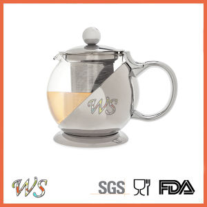 Wschmy045 Silver Color Tea Pot Copper Plating Tea Pot Tea & Coffee Tool