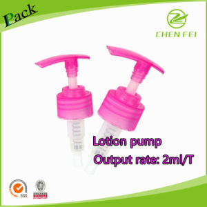 Ribbed Closure Pink Color Lotion Pump of Output 2ml/T