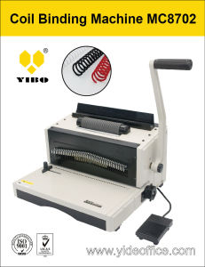 A4 Size Base Heavy Duty Coil Binding Machine (MC8702) pictures & photos