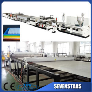 Plastic Sunlight PC Hollow Sheet / PP PE Extrusion Production Line pictures & photos
