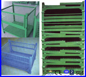 Warehouse Foldable Storage Metal Wire Mesh Box/Container for Sale pictures & photos