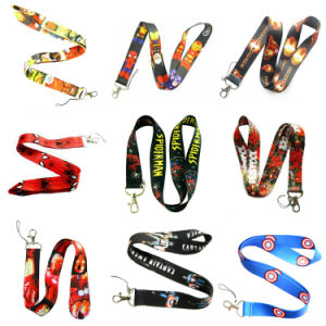 Polyester/Nylon Printed Logo Custom Lanyards with Retractable Badge Reel/ID Card Holder pictures & photos