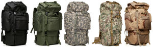 11 Colors Outdoor Backpack Mountaineering Bags 65L Field Package pictures & photos